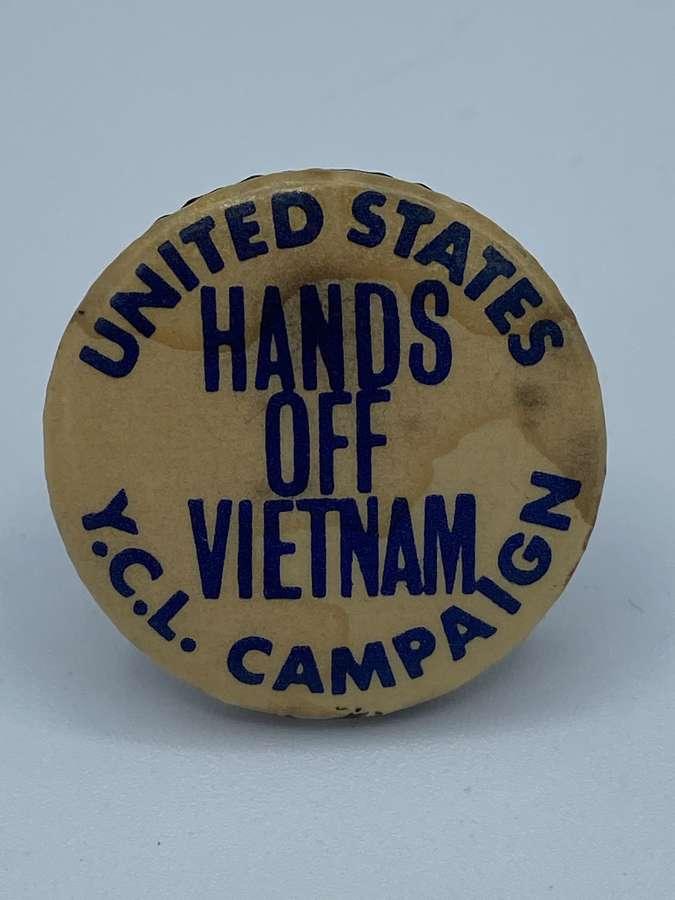 1950s US Hands Of Vietnam Young Communist League Badge