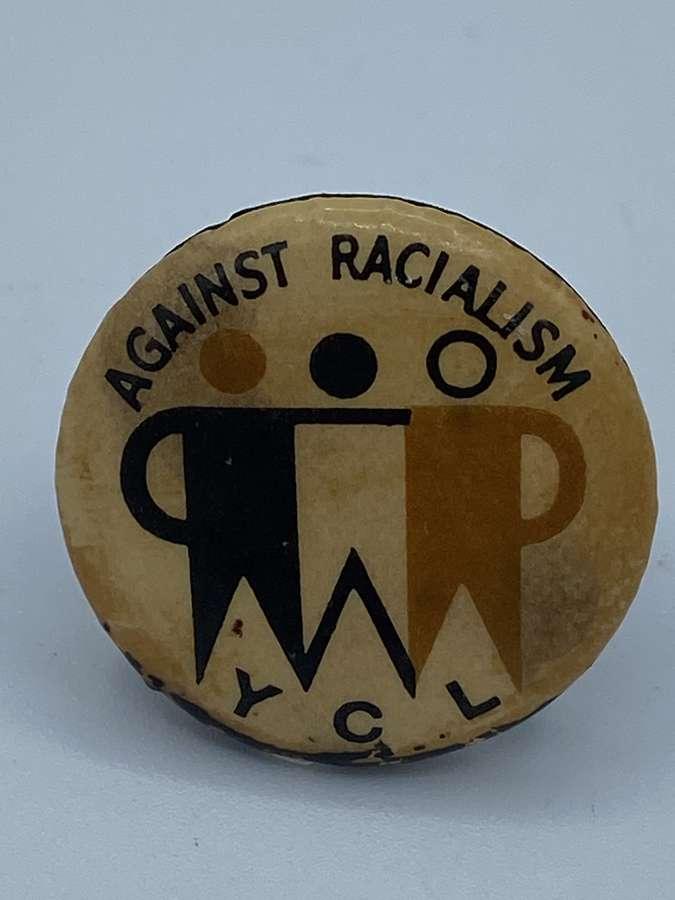 1960s Vintage Against Racism Young Communist League YCL Campaign Badge