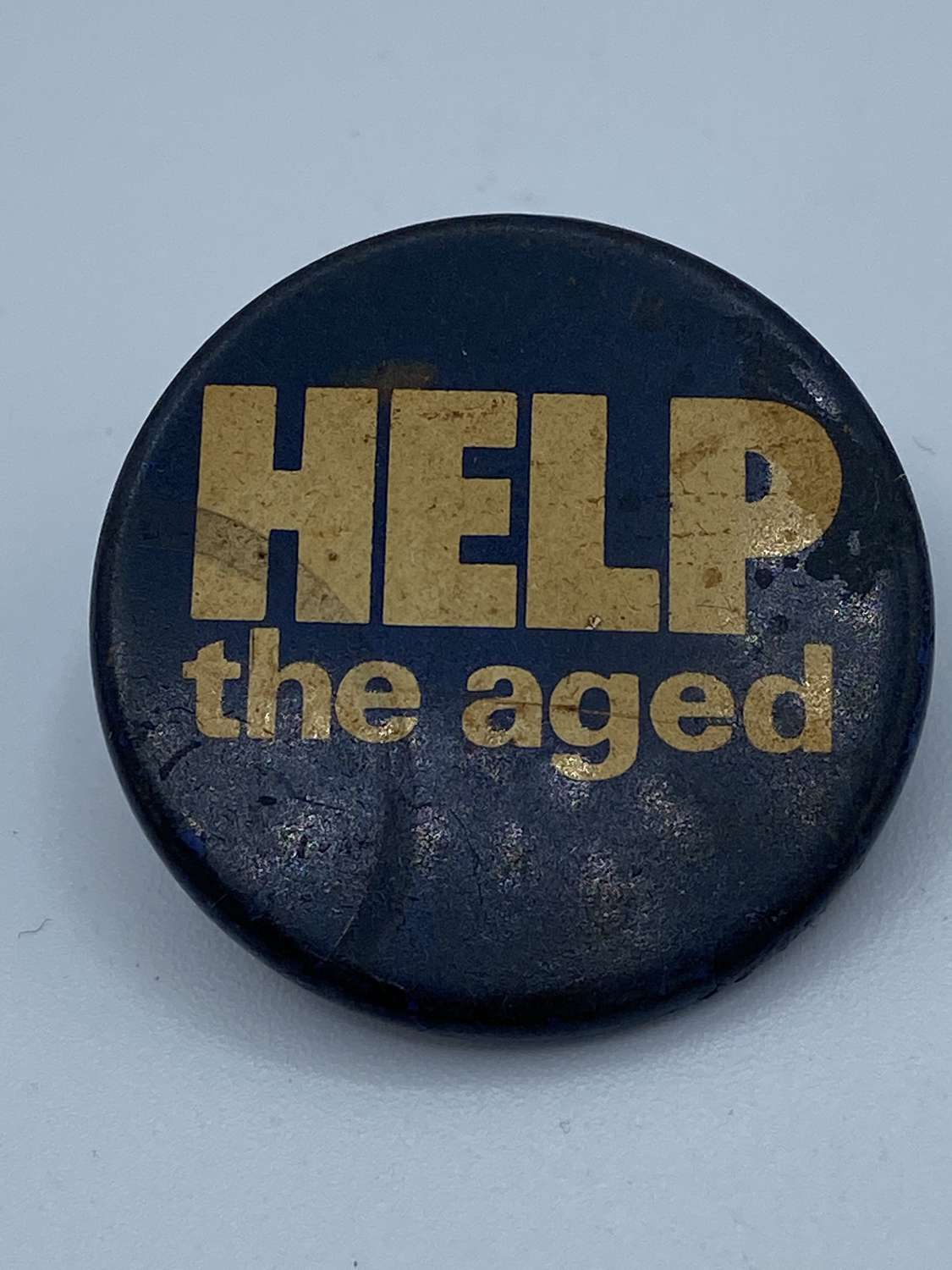 Vintage 1970s Help The Aged Support Badge
