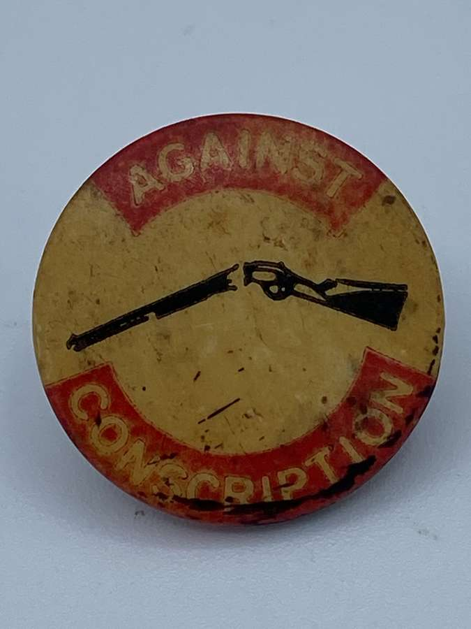 Vintage Australian 1960s Anti Conscription Badge