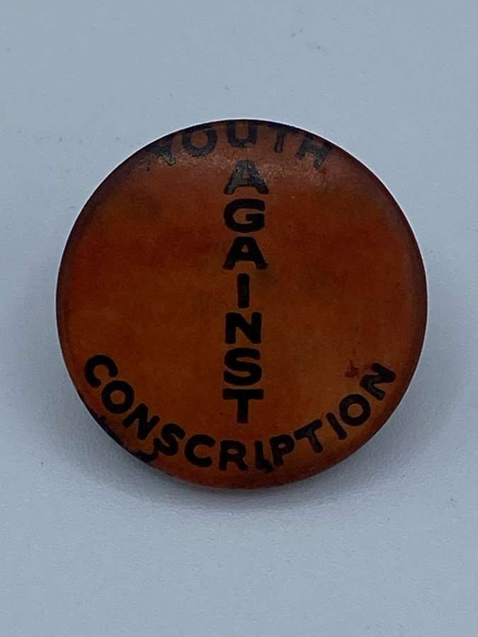 Vintage Australian 1960s Youth Anti Conscription Campaign Badge