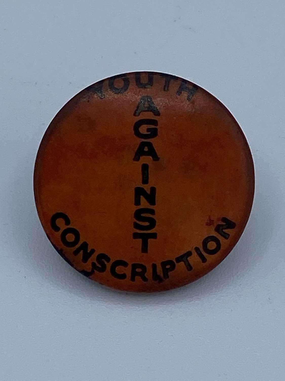 Vintage Australian 1960s Youth Anti Conscription Campaign Badge