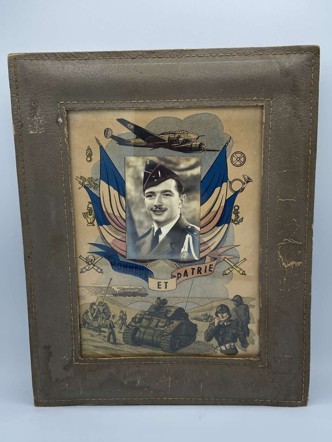 Large WW2 Legion Of Honour French Certificate & Photo Tanks Planes Etc