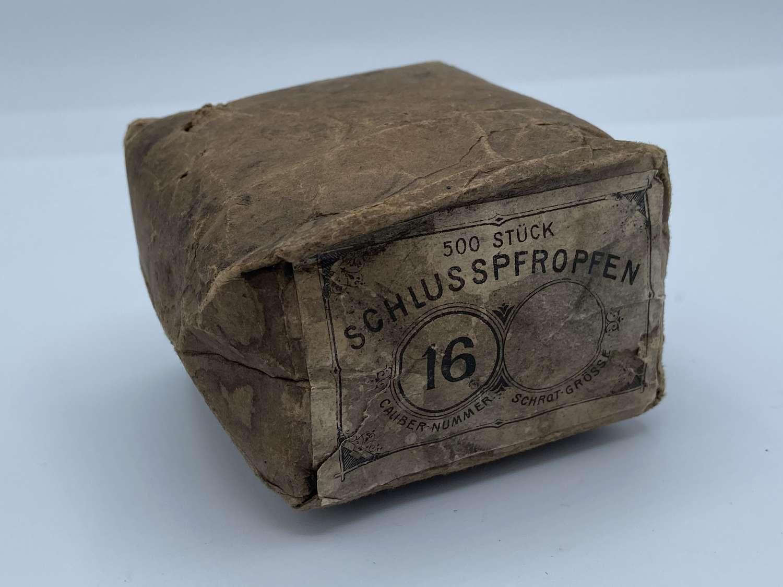 Rare WW2 German Wehrmacht Unopened 500 Stuck Schlusspfropfen