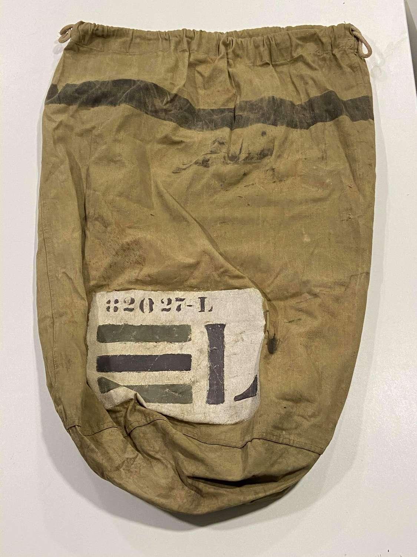 WW2 D-Day US Army Lieutenant Duffel Bag With Top Secret POM Markings