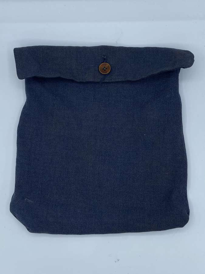 WW2 German Blue Denin Luftwaffe Personal Effects Button Up Pouch