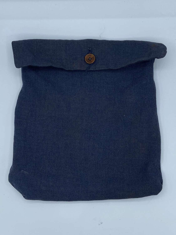 WW2 German Blue Denin Luftwaffe Personal Effects Button Up Pouch