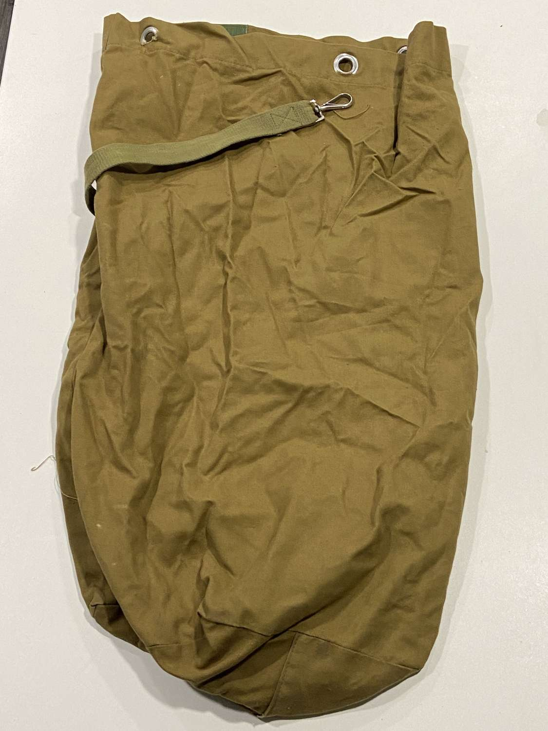 1960s British army surplus duffle bag GDR East German