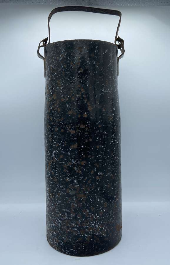 1930s Black Graniteware Enamel Umbrella And Walking Stick Holder
