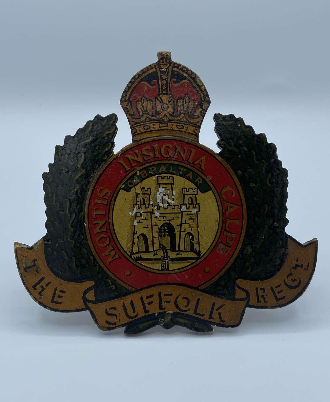 WW1 WW2 NAAFI Sign For The Suffolk Regiment