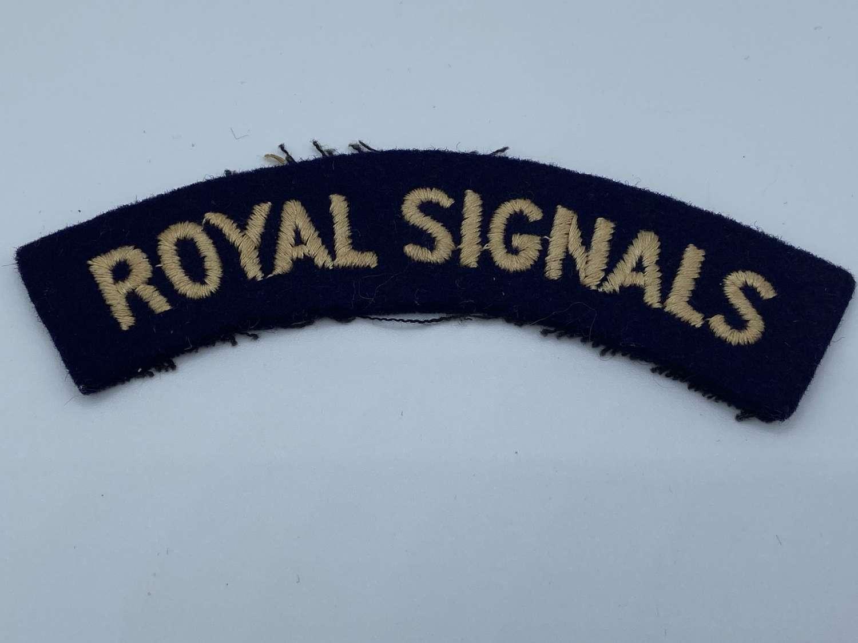WW2 Royal Signals Shoulder Title