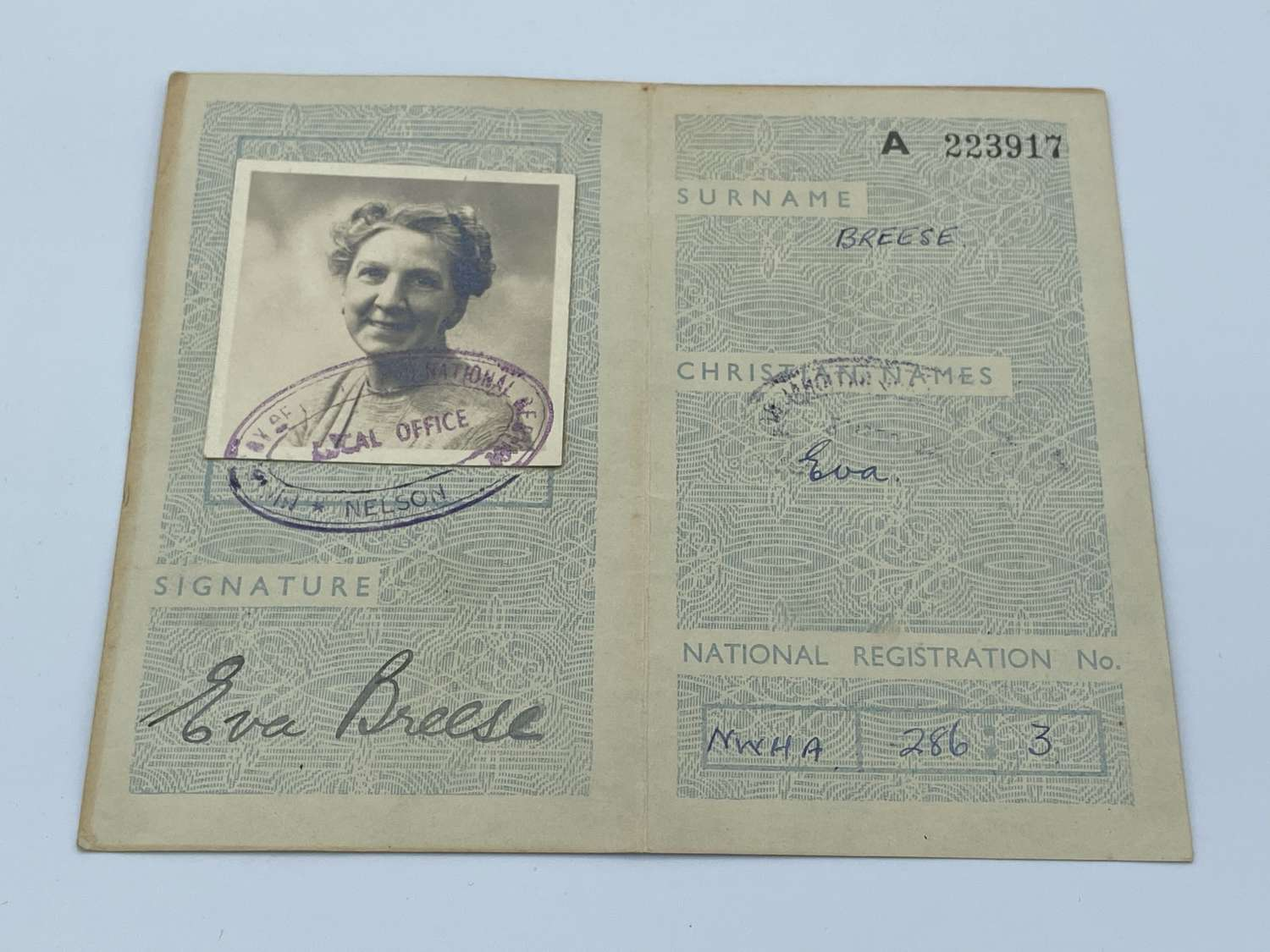 WW2 Travel Identity Card Belonging To Eva Breese