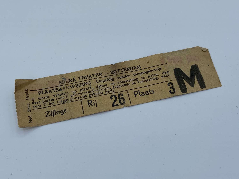 WW2 September 1945 Rotterdam Arena Theatre Ticket Token