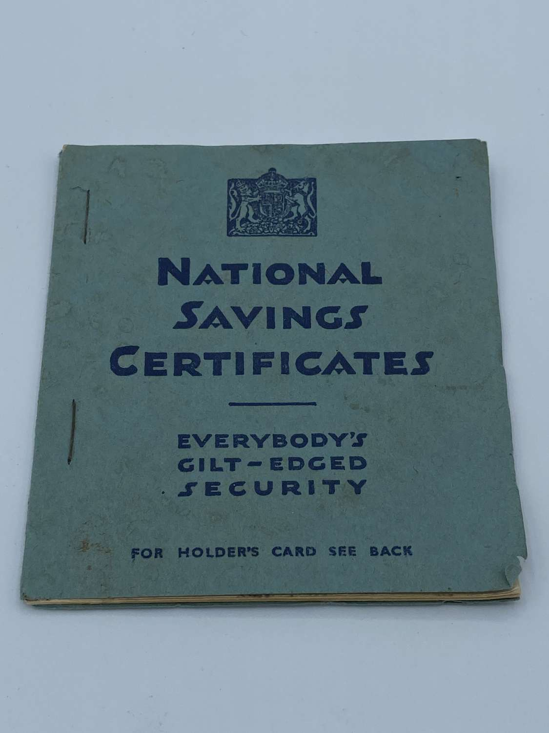 Original WW2 National Savings Certificate Norfolk 1932 & Holders Card
