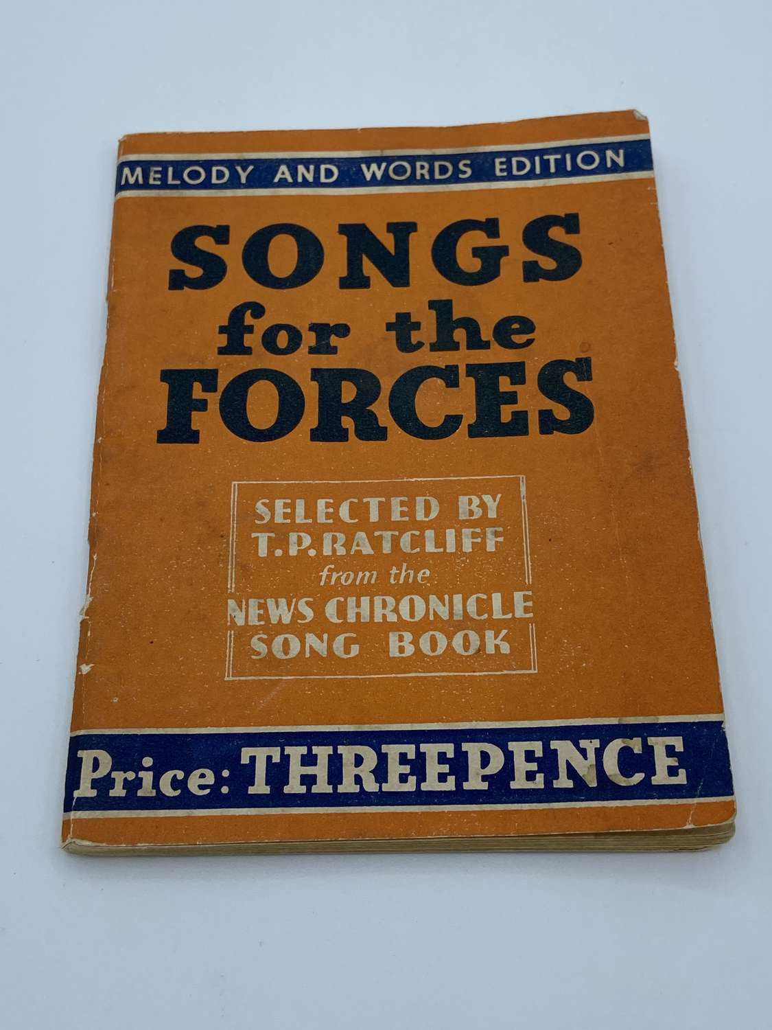 WW2 British Army Songs For The Forces Song Book