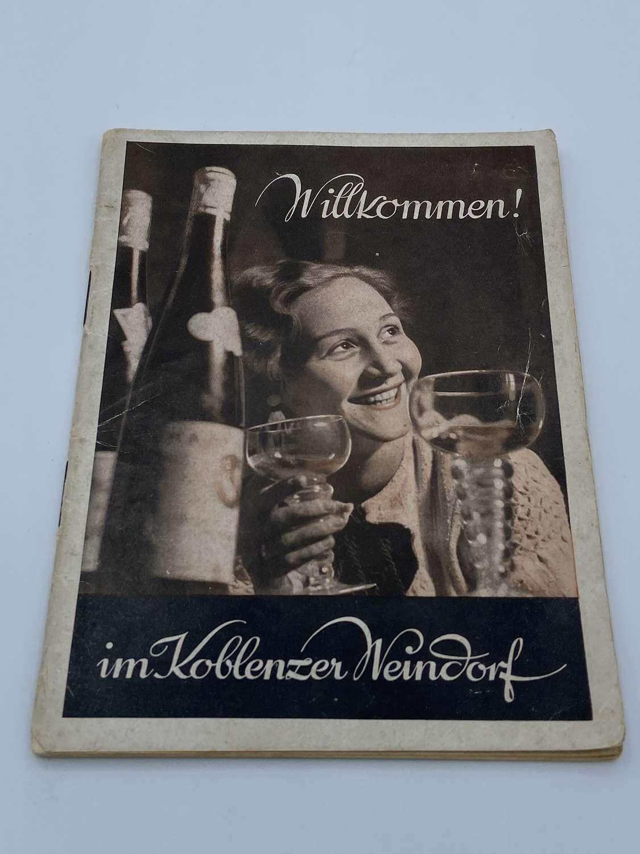 Rare WW2 1937 German Koblenz Wine Village Booklet