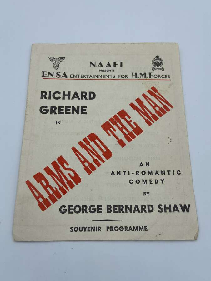 """WW2 NAAFI For HM Forces George Shaw """"Arms And The Man"""" Programme"""