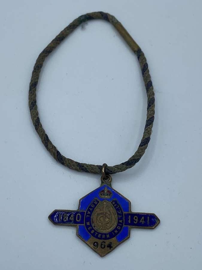 WW2 1940 Royal Western India Turf Club Ltd No964  W.OLewis Badges Ltd