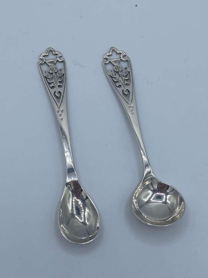 Vintage Edinburgh Hallmark  Solid Silver Spoons Francis Howard