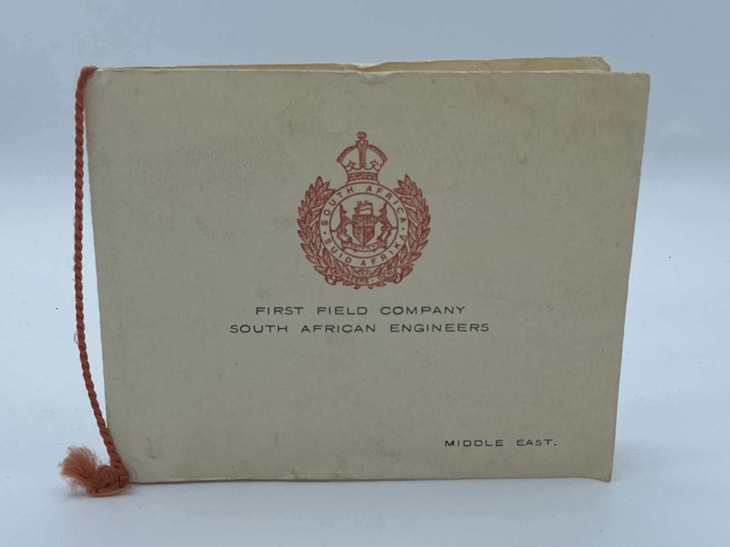 WW2 South African Engineers First Field  1941-42 Christmas Card