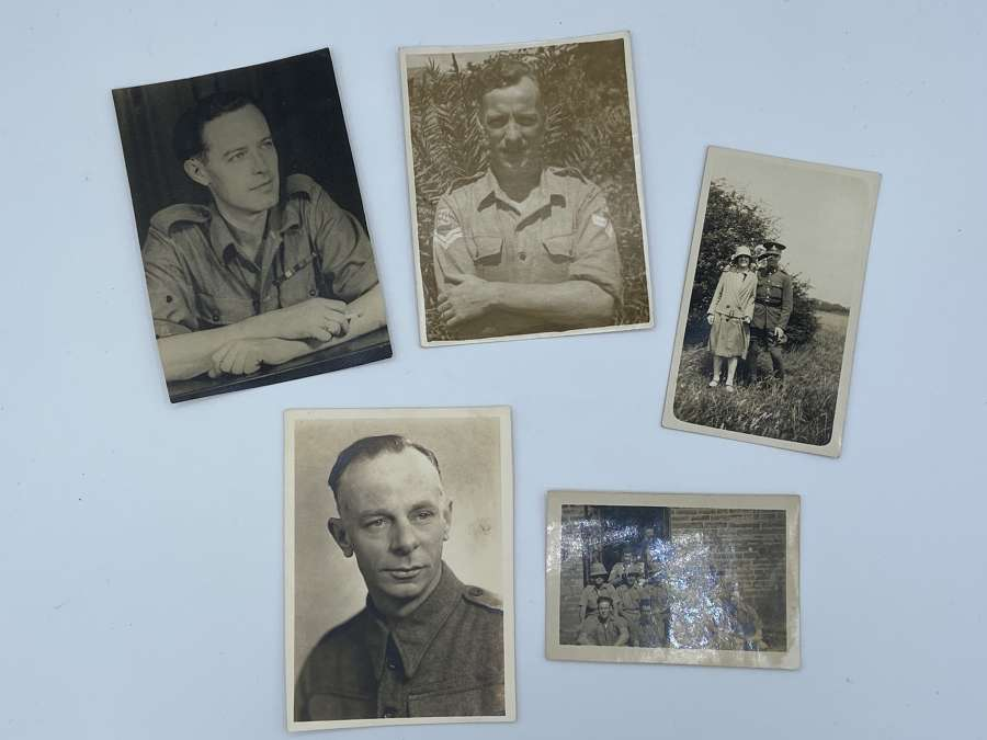 WW2 Small Photo Lot Of Allied land forces south east Asia