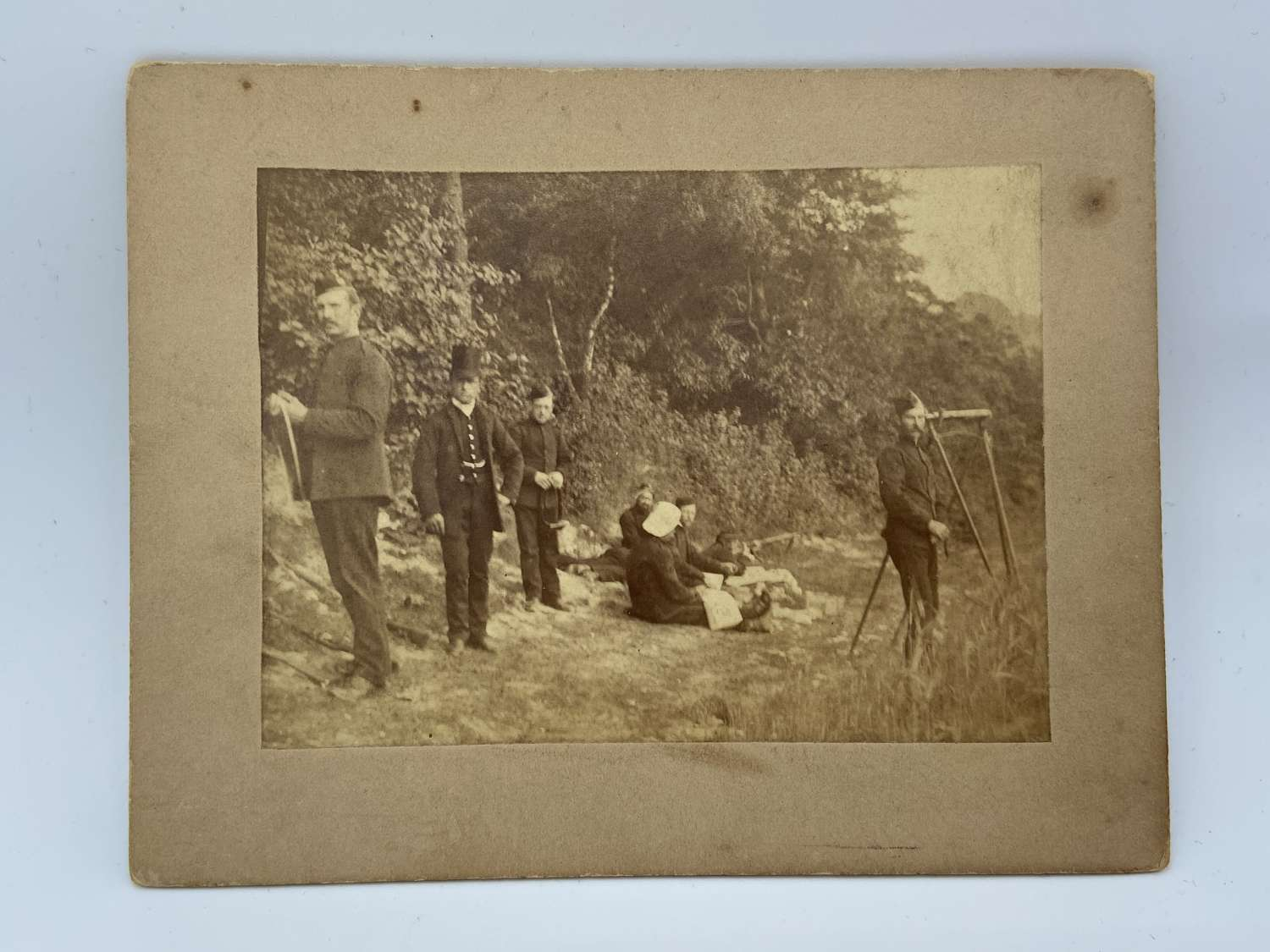 Victorian British Military Royal Engineers Target Practice Photograph