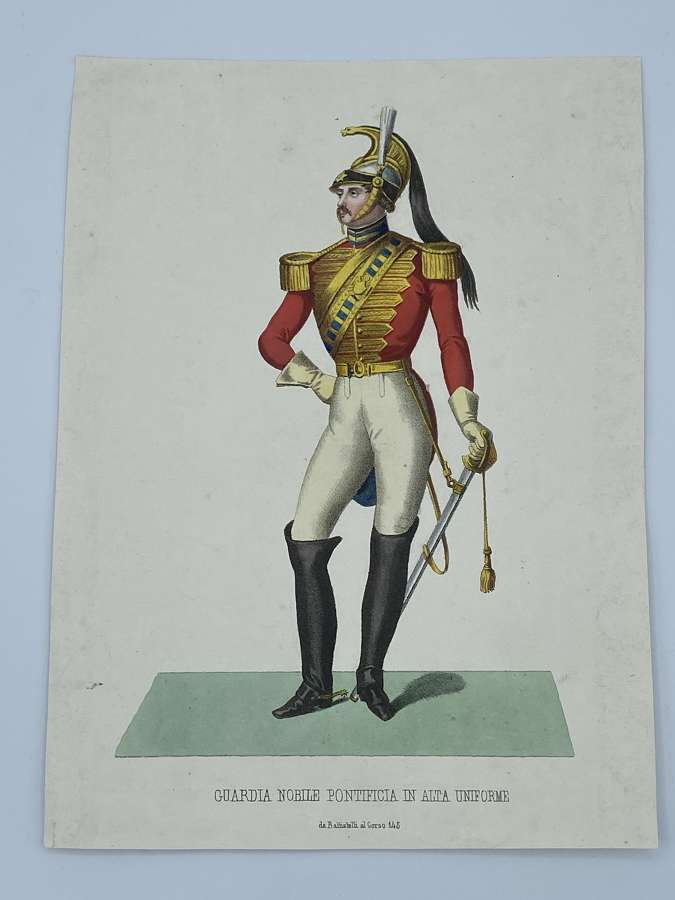 Victorian 1880s Nobel Guards The Popes Guards Illustration PeriodPrint