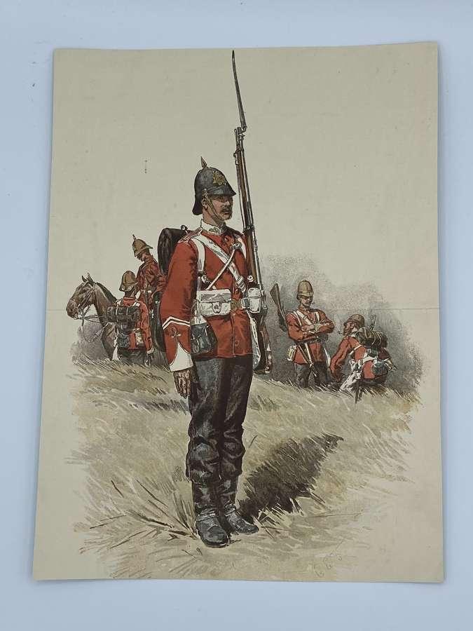 Victorian 1879 British Army Anglo Zulu War Illustration / Print