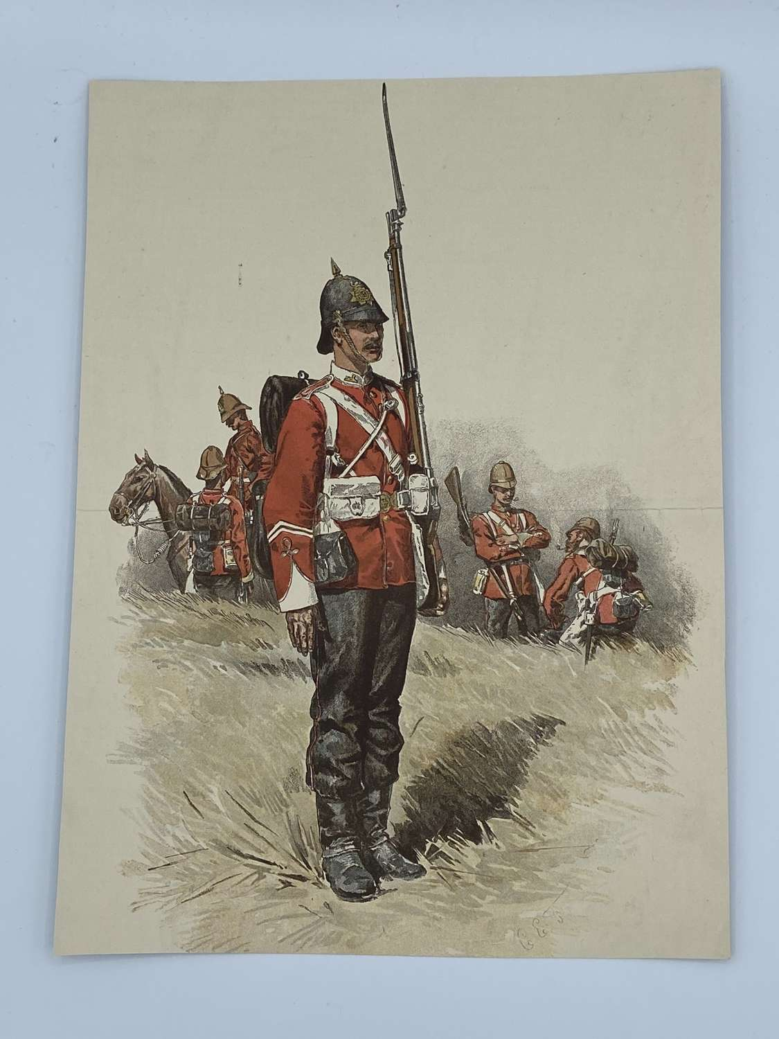 Victorian 1879 British Army Anglo Zulu War Illustration / Print