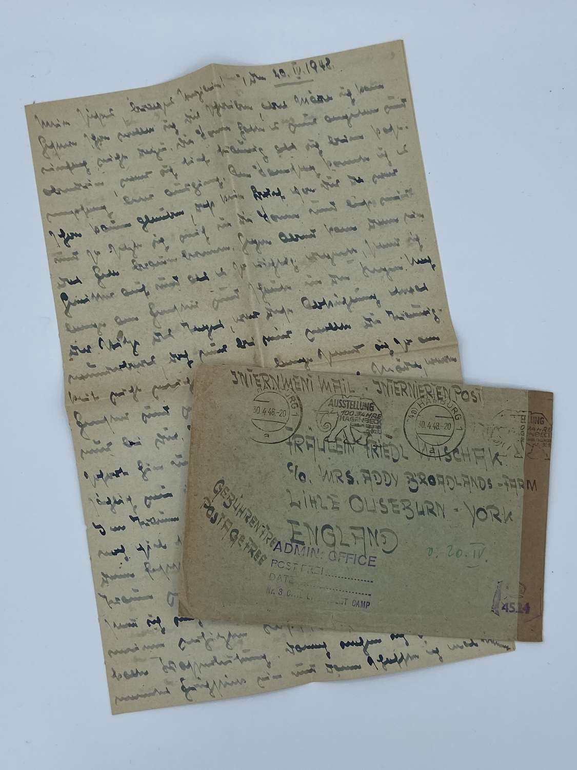 Post WW2 Wehrmacht POW Letter To England Friendly Family