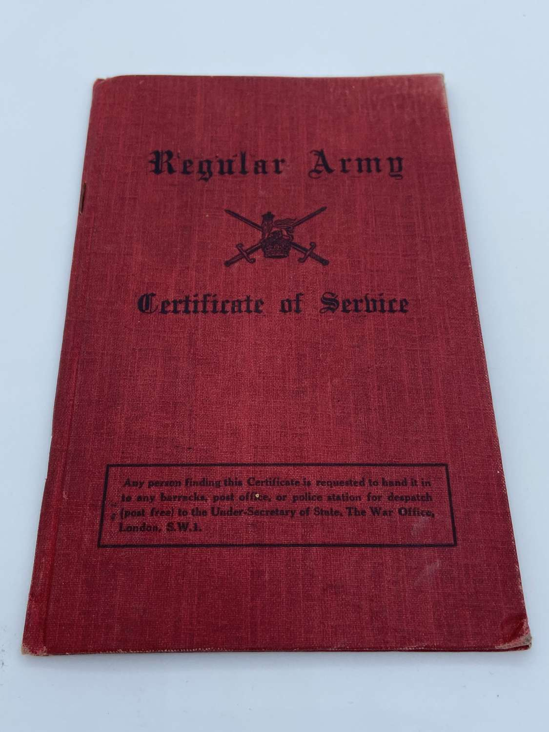 Regular Army Cert Of Service To TANK COMMANDER BAOR Malaya Hong Kong