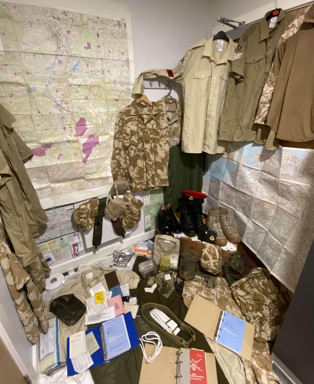 British Military Police Equipment & Clothing Grouping BAOR Baharain