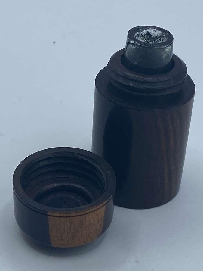 Beautiful Victorian US Civil War Era Pop Up Rosewood Ink Well