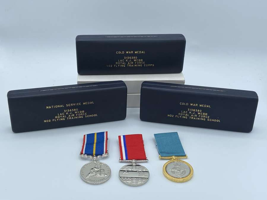 Cold War Medal Grouping To LAC K J Webb RAF No2 Flying Training Corps