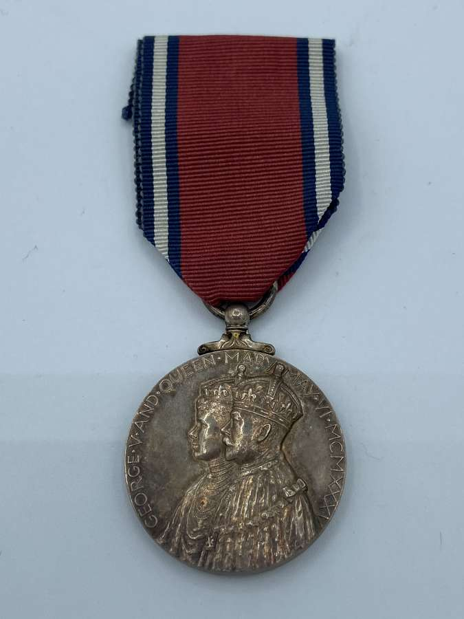 WW2 British 1935 Official King George V Silver Jubilee Medal