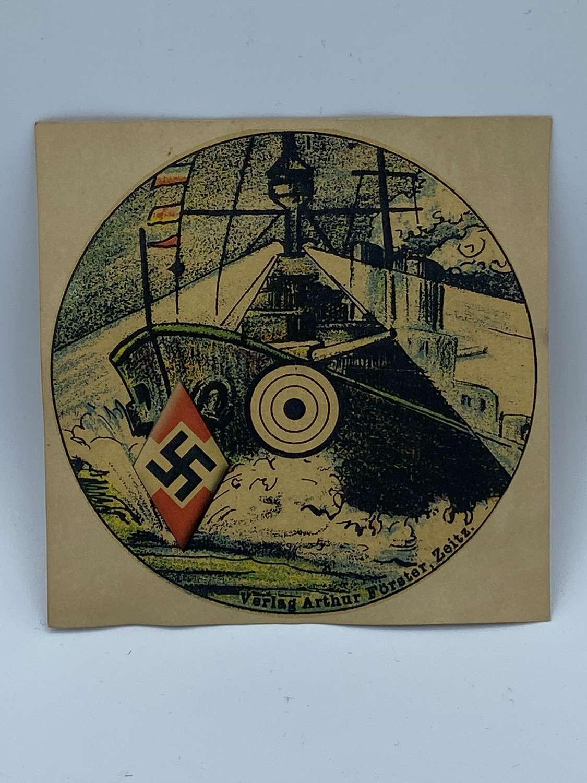 WW2 German Hitler Youth Pistol Battle Ship Target Arthur Forster Zeitz