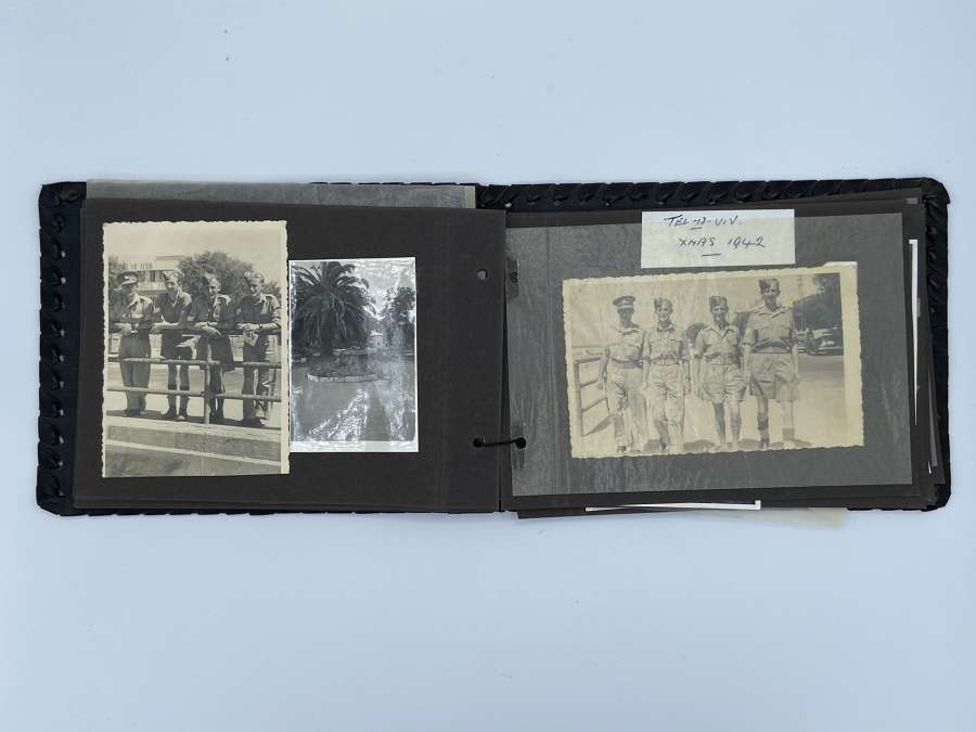 WW2 Egypt & Africa Leather Photograph Album British Military