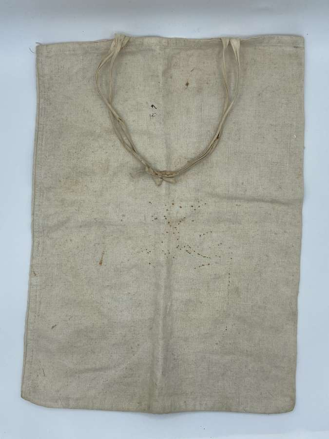 WW1 British Army 1918 Dated Dry Rations Cotton Bag To Frank Lane