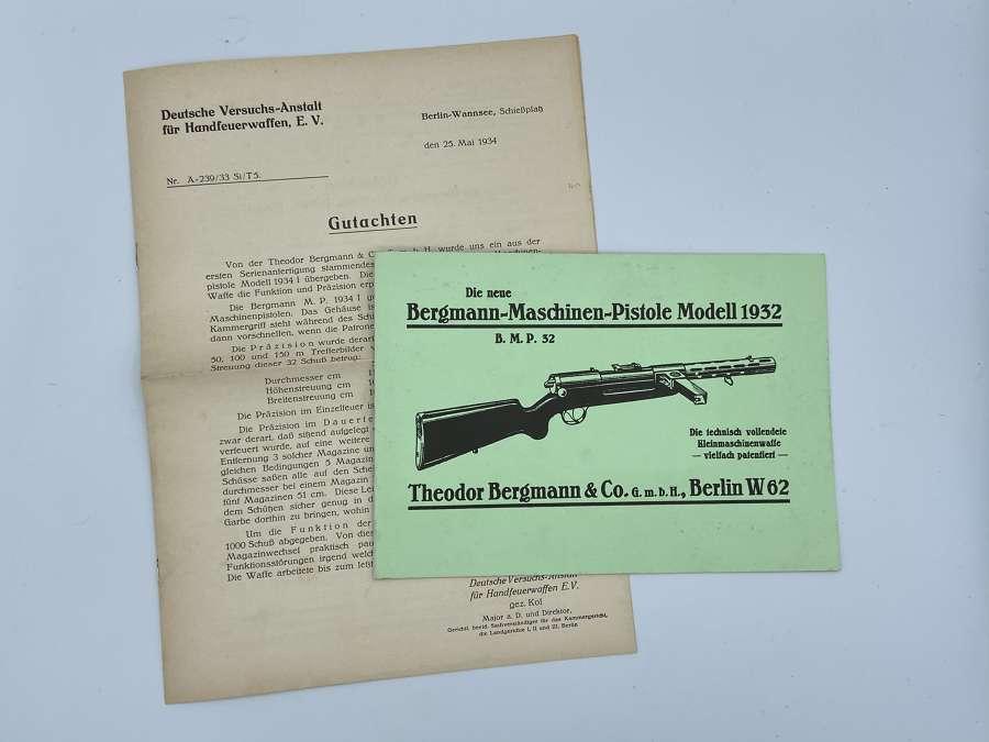 WW2 German Reprint Theodor Bergmann Mannual And Instructions