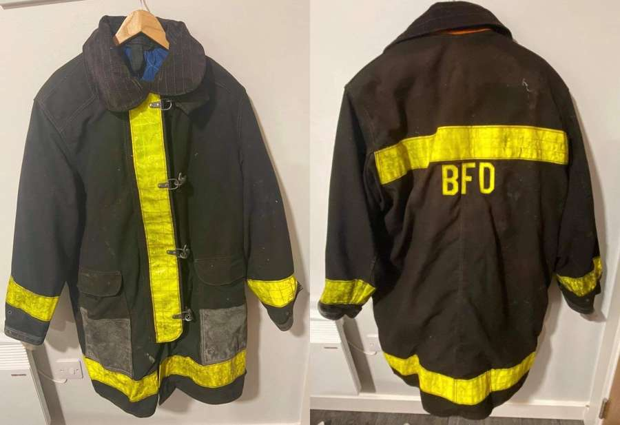 1989 Large NY Babylon Fire Department BFD Turn Out Gear Cairns & Bro