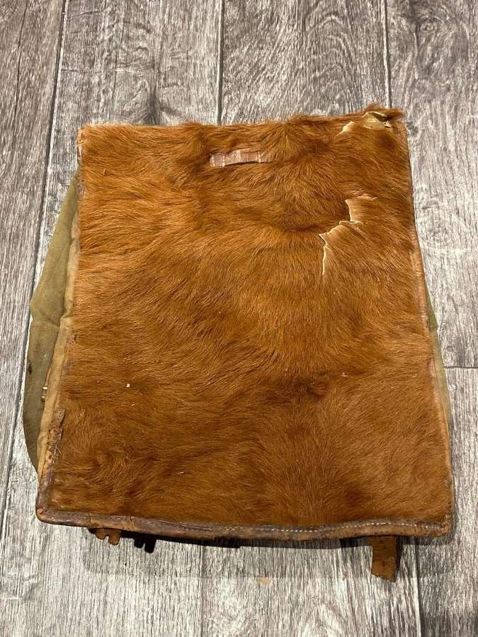 WW2 German 1938 Dated Pony Fur Rucksack Tornister