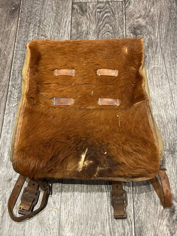 WW2 German Pony Fur Rucksack Backpack
