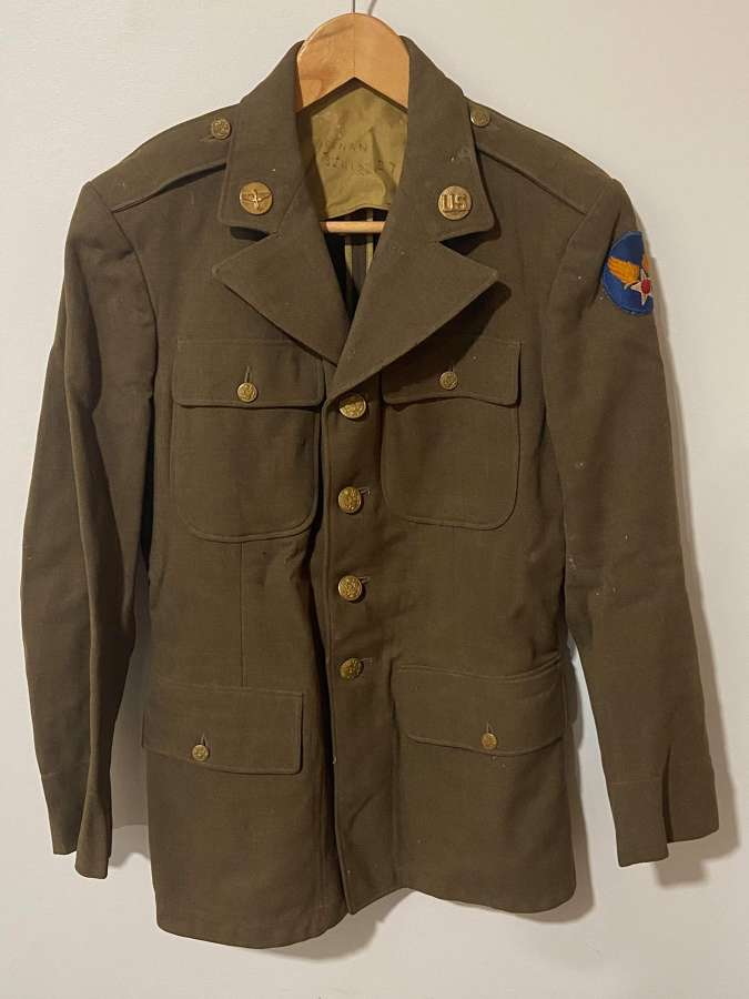 WW2 USAAF United States Named Tunic Dated 2/7/40 Size 37 R