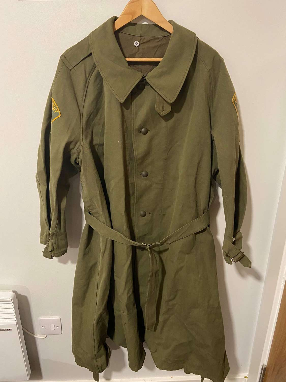 WW2 French Army Overcoat Converted Connecticut State Jail Overcoat