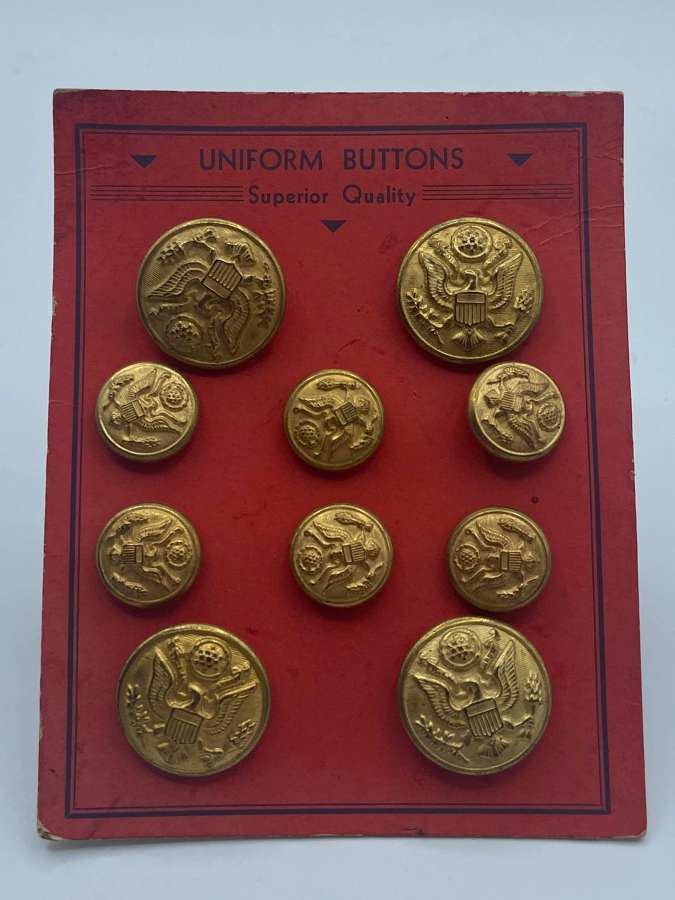 WW2 United States Army Uniform Buttons Superior Quality Complete