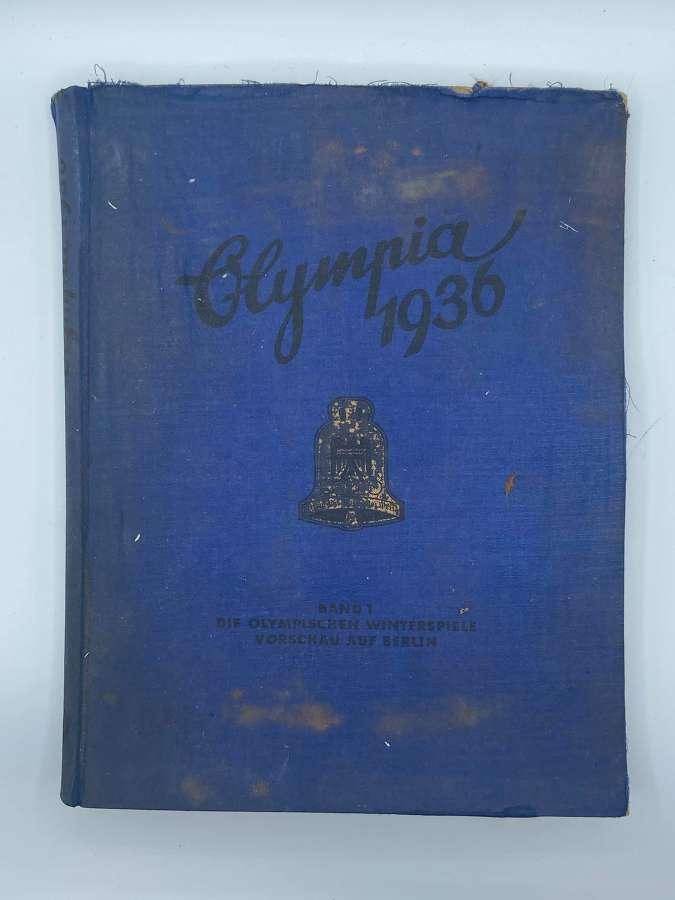 WW2 German 1936 Olympia Olympic Cigarette Card Album Band One