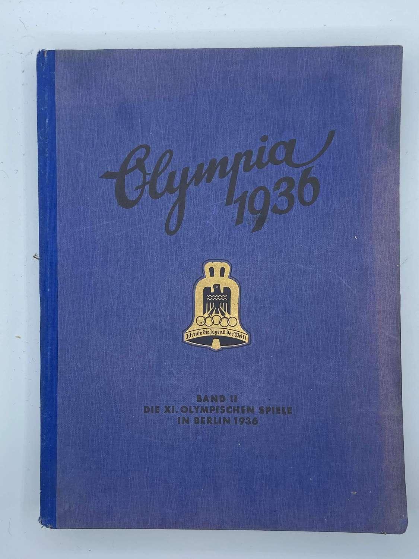 WW2 German 1936 Olympia Olympic Cigarette Card Album Band Two