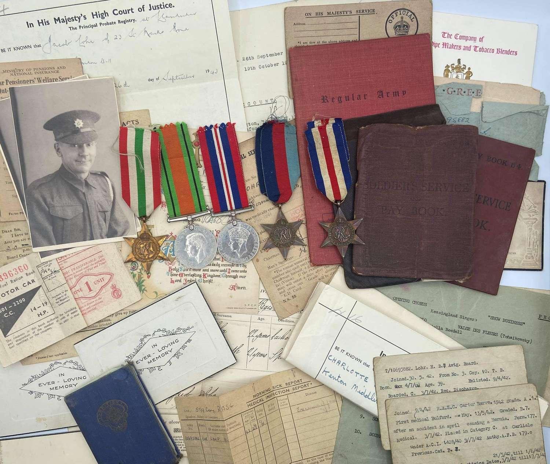WW2 Medal & Paperwork Group To Lohr Henry RASC
