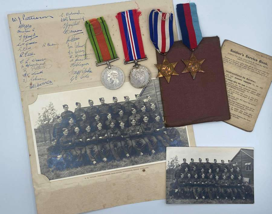 WW2 Medal & Paperwork Group To Robert Harris Maidenhead