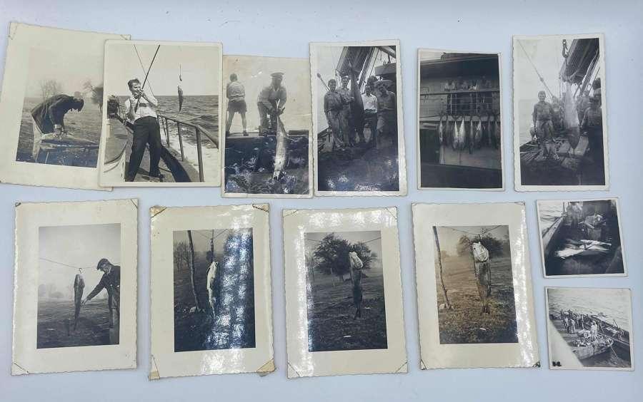 WW2 United States Navy Photographs Catching Tuna